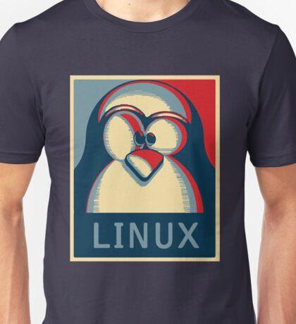Linux tux penguin obama poster logo Unisex T-Shirt