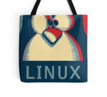 Linux tux penguin obama poster logo Tote Bag