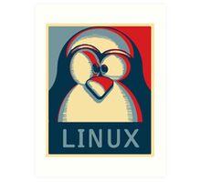 Linux tux penguin obama poster logo Art Print