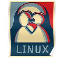 Linux tux penguin obama poster logo Poster