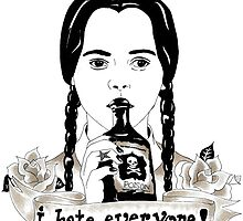 Wednesday Addams - I Hate Everyone  by BlackCultDesign