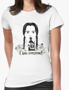 Wednesday Addams - I Hate Everyone  Womens Fitted T-Shirt