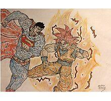 Goku VS Superman Photographic Print