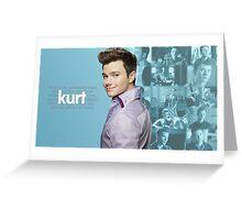 Kurt Hummel/Chris Colfer Edit Greeting Card