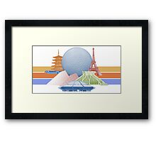 EPCOT Center Inspired Design  Framed Print
