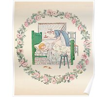 Mrs Leicester's School Charles & Mary Lamb with Minifred Green 18xx 0047 I Fell Fast Asleep Poster