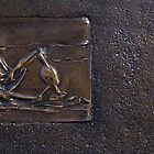 3/4 Mother & Child and Reclining Figure: Bronze Relief by Henry Moore by masterworks