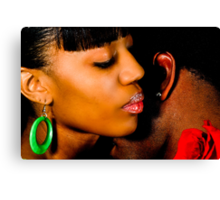 African American Couple Canvas Print