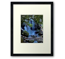 Waterfall Through The Trees Framed Print