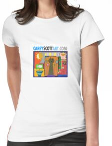 Cat Art - This cat and that. Womens Fitted T-Shirt