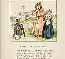 The April Baby's Book of Tunes by Elizabeth art Kate Greenaway 1900 0089 Pussy Cat Pussy Cat by wetdryvac