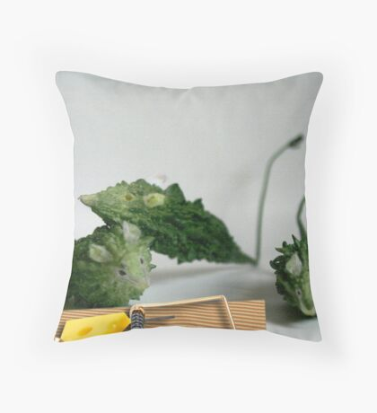 Mice The Trap Throw Pillow