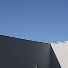 white on blue - industrial building by fabio piretti