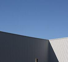 white on blue - industrial building by fabio piretti