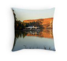 houseboat morning Throw Pillow