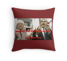 BARACK THE VOTE FOR BERNIE Throw Pillow