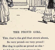 Miniature Under the Window Pictures & Rhymes for Children Kate Greenaway 1880 0040 The Proud Girl Sticker