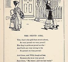 Miniature Under the Window Pictures & Rhymes for Children Kate Greenaway 1880 0040 The Proud Girl by wetdryvac