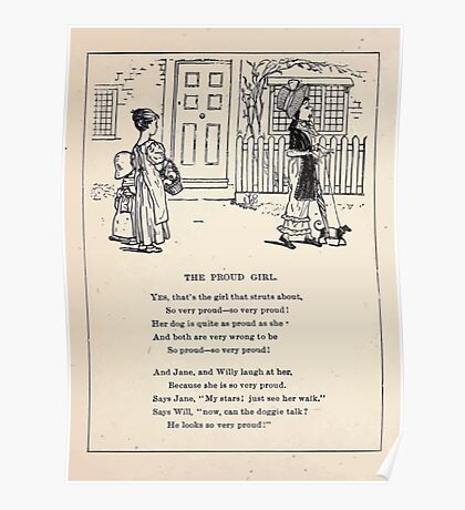 Miniature Under the Window Pictures & Rhymes for Children Kate Greenaway 1880 0040 The Proud Girl Poster