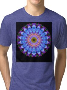 Sacred Crown - Mandala Art By Sharon Cummings Tri-blend T-Shirt