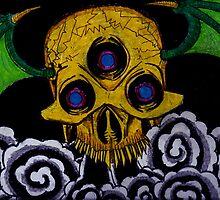 smokin skull by crAFt137
