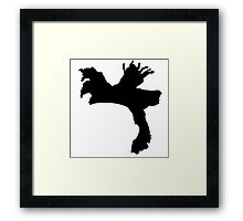 The Weeknd Hair - FRONT Framed Print