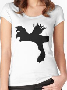 The Weeknd Hair - FRONT Women's Fitted Scoop T-Shirt