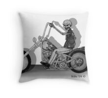 dead biker Throw Pillow