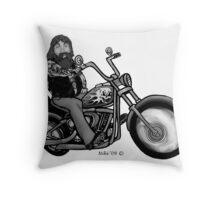 biker2 Throw Pillow