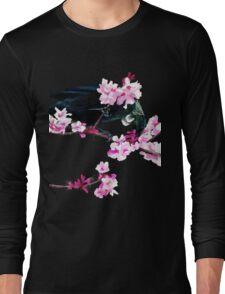 Tui Feeding on Cherry Blossoms Long Sleeve T-Shirt