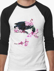 Tui Feeding on Cherry Blossoms Men's Baseball ¾ T-Shirt