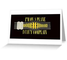Nirvana ~ On A Plane Lyrics Guitar Design Greeting Card