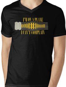 Nirvana ~ On A Plane Lyrics Guitar Design Mens V-Neck T-Shirt