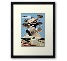 Book knowledge Framed Print