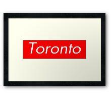 Toronto Supreme Box Logo Framed Print