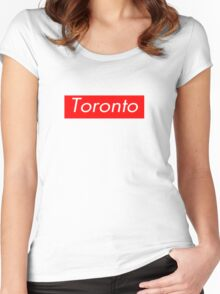 Toronto Supreme Box Logo Women's Fitted Scoop T-Shirt