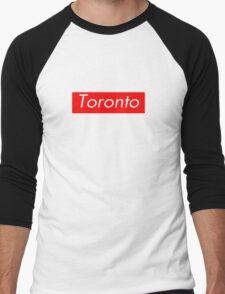 Toronto Supreme Box Logo Men's Baseball ¾ T-Shirt