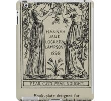 Kate Greenaway Collection 1905 0060 Book Plate for Miss Hanna Jane Locker Lampson iPad Case/Skin