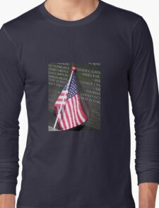 Flag For Fallen Soldier Long Sleeve T-Shirt