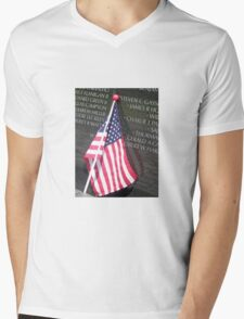 Flag For Fallen Soldier Mens V-Neck T-Shirt