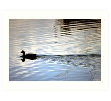 Floating Silhoutte Art Print