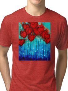 Hearts on Fire - Romantic Art By Sharon Cummings Tri-blend T-Shirt