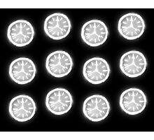Glowing Clocks Photographic Print