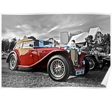 Red MG TC at Elder Park Poster