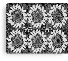 Black and White Floral Canvas Print