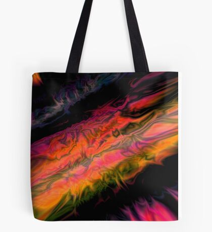 psychedelic flames Tote Bag
