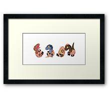 Raptor posse Framed Print