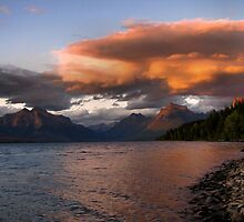Sunset over Glacier by JamesA1