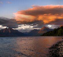 Sunset over Glacier by JamesA1