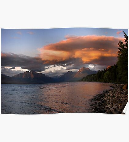 Sunset over Glacier Poster